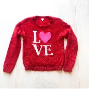 Juicy Couture | Love is all you need fuzzy sweater